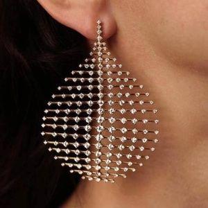 Cubic Zirconia Water drop Dangle Earrings